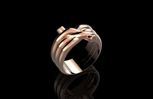 modelo para fundição de semijóias - prototipagem - anel