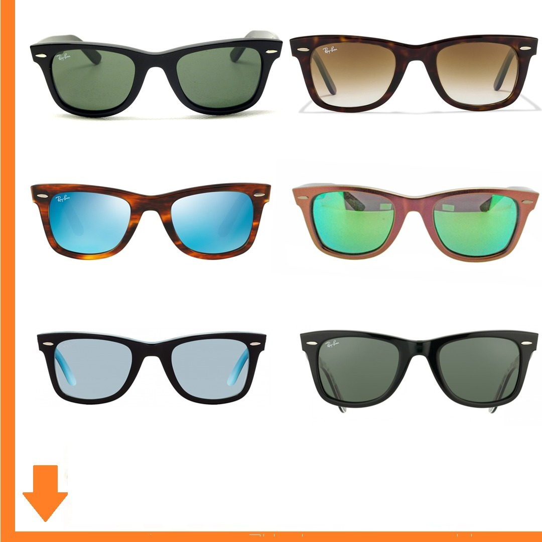 modelo wayfarer anteojos lentes ray ban sol hombre mujer. Cargando zoom. 95431256244