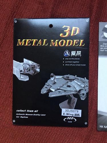 modelos 3d metálicos naves starwars