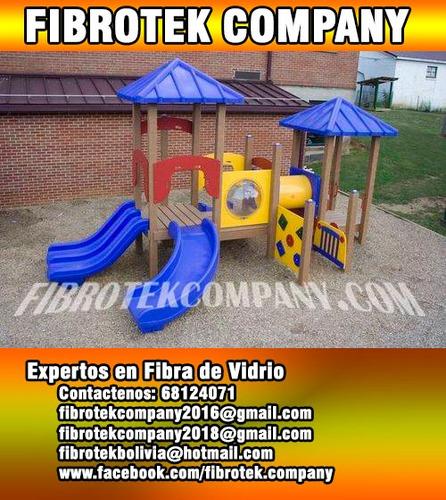 modelos de parques infantiles fabricados en fibra de vidrio