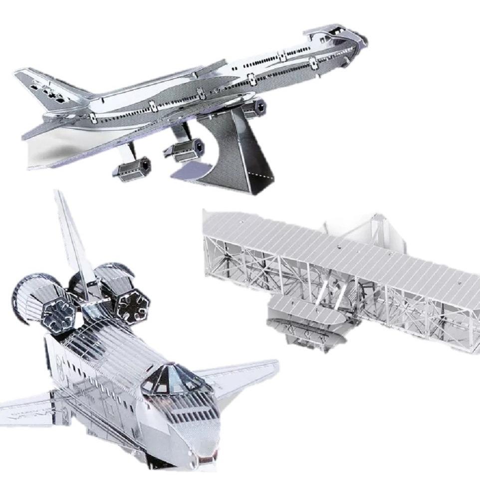 Modelos Naves De Vuelo A Escala 3d Para Armar En Metal