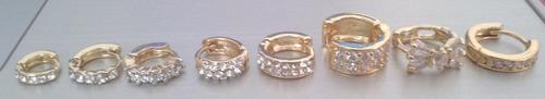 modelos piercing orelha cartilagem  folheado  ouro e strass