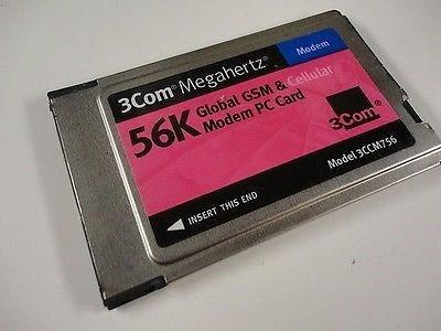 modem 3com megahertz 56k global gsm - modem pc card