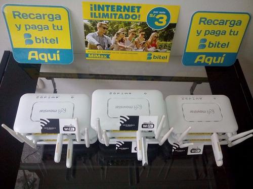 modem 3g + modem bitel + chip atu nombre + s/30 saldo