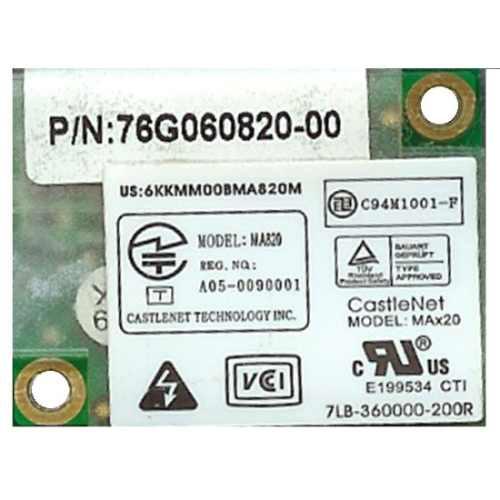 modem 56k castlenet ma-820  ecs l51 kennex u50sa cce j48fa