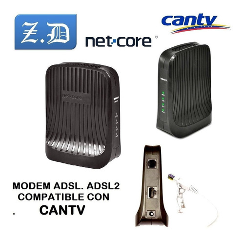 modem adsl marca net core banda ancha cantv abba