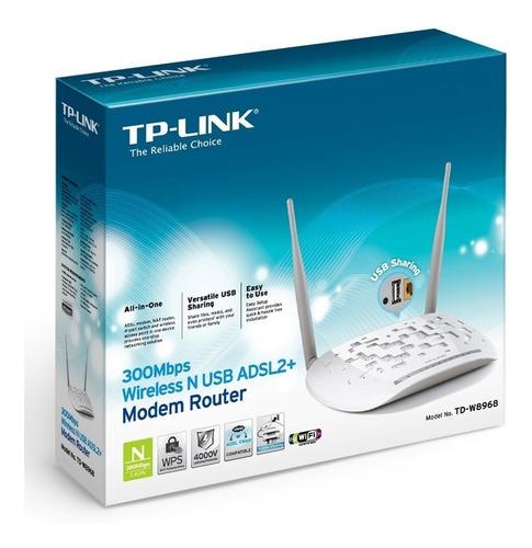 modem adsl router wifi 300mbps puerto usb tplink w8968