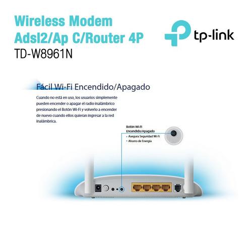 modem adsl wifi tp link 8961n 2 ant 300mbps mallweb 2