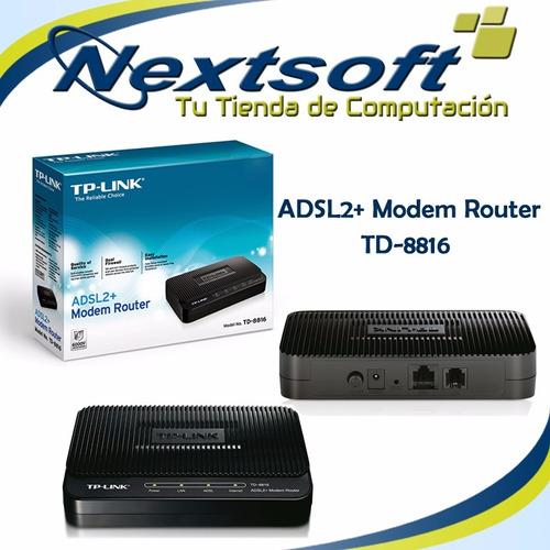 modem adsl2+ internet tplink td-8816 nextsoft