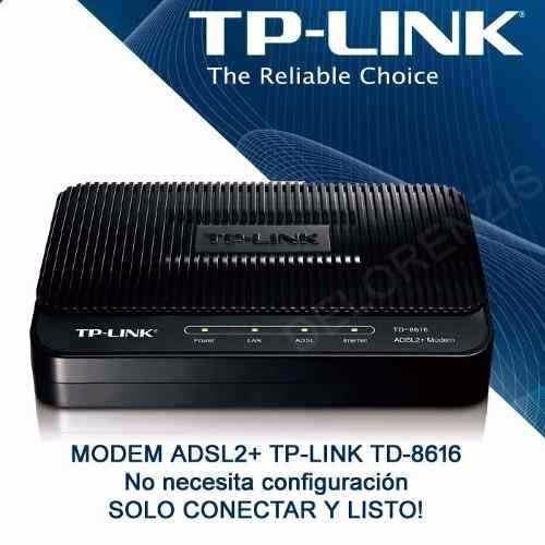 modem adsl2+ tp-link td-8616 24mbps nuevo y sellado