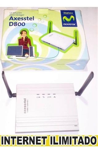 modem axesstel internet - linea plan ilimitado y actualizado