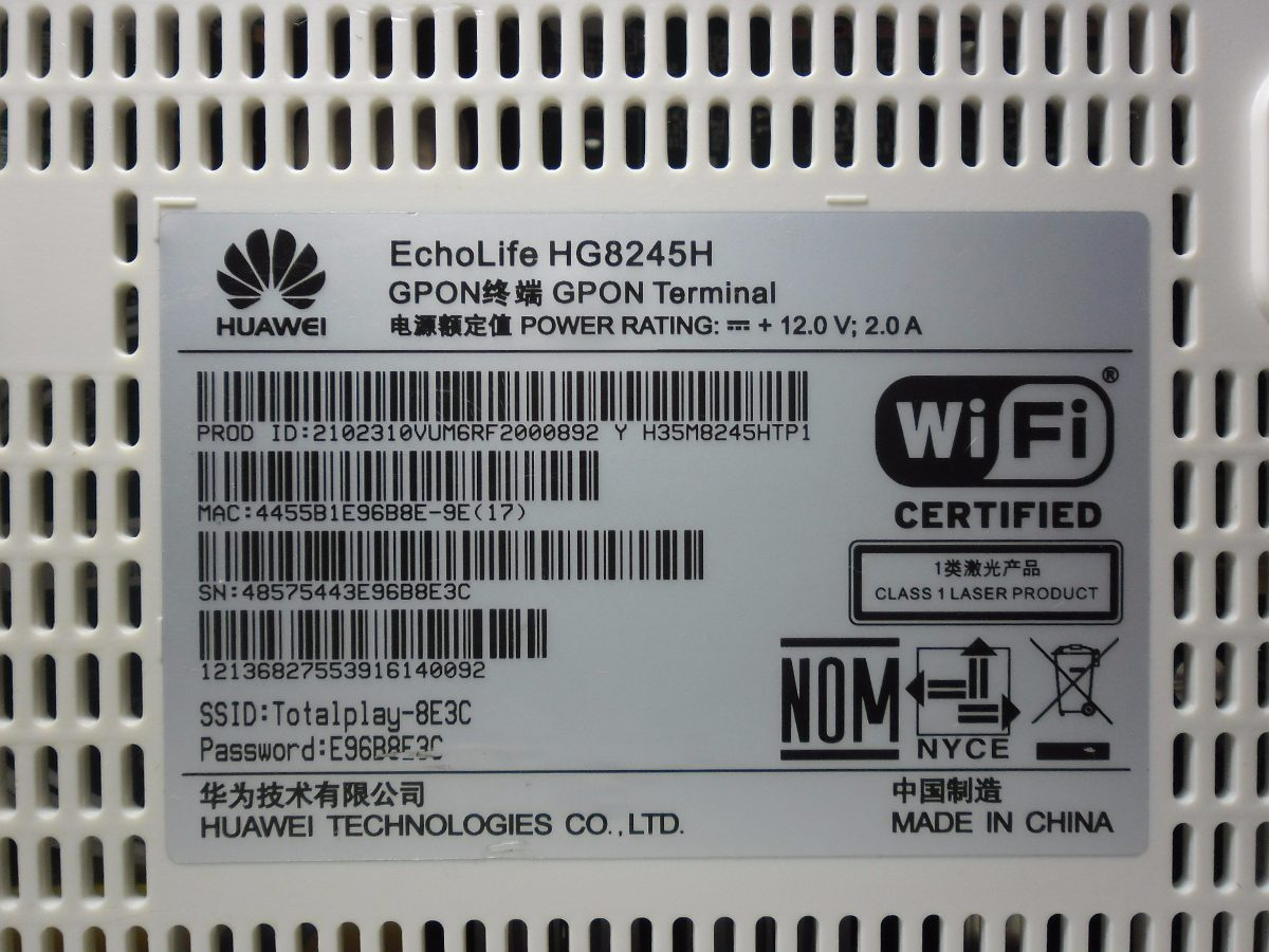 Modem Huawei 8245h Router Total Play Totalplay 199 00