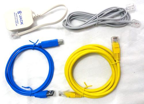 modem kit de cables y accesorios para aba