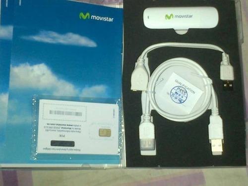 modem movistar 3.5g con linea a su nombre product garantizad