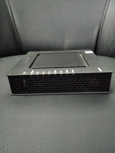 módem rauter para fibra óptica entrada cable coaxial y red