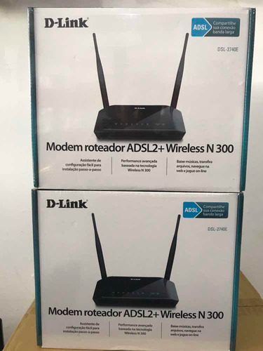 modem roteador wireless n300 adsl2+ 300mbps dsl-2740e d-link