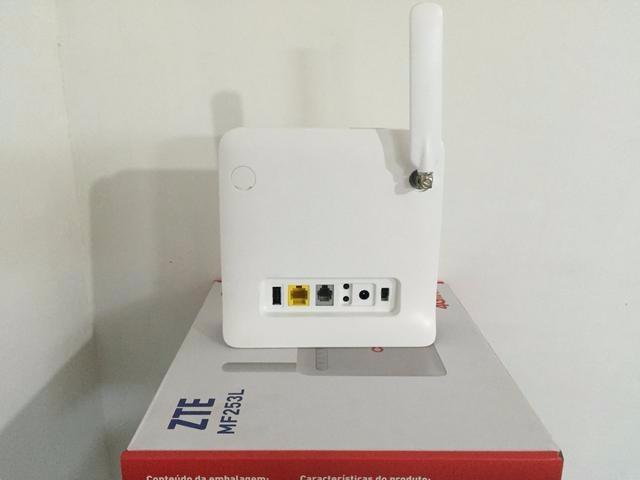 modem roteador zte mf253 3g 4g chip pode usar antena