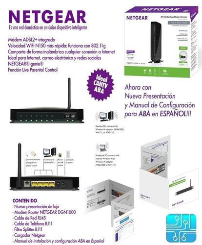 modem router aba cantv netgear dgn1000 wifi internet