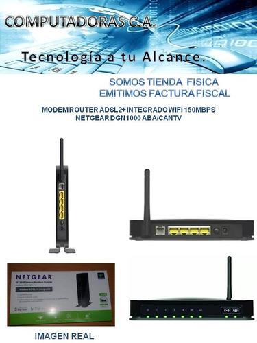 modem router adsl2+ integrado netgear dgn1000 aba/cantv