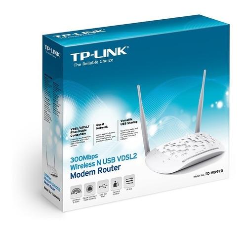 modem router td-w9970 con usb para impresora y mucho mas lea