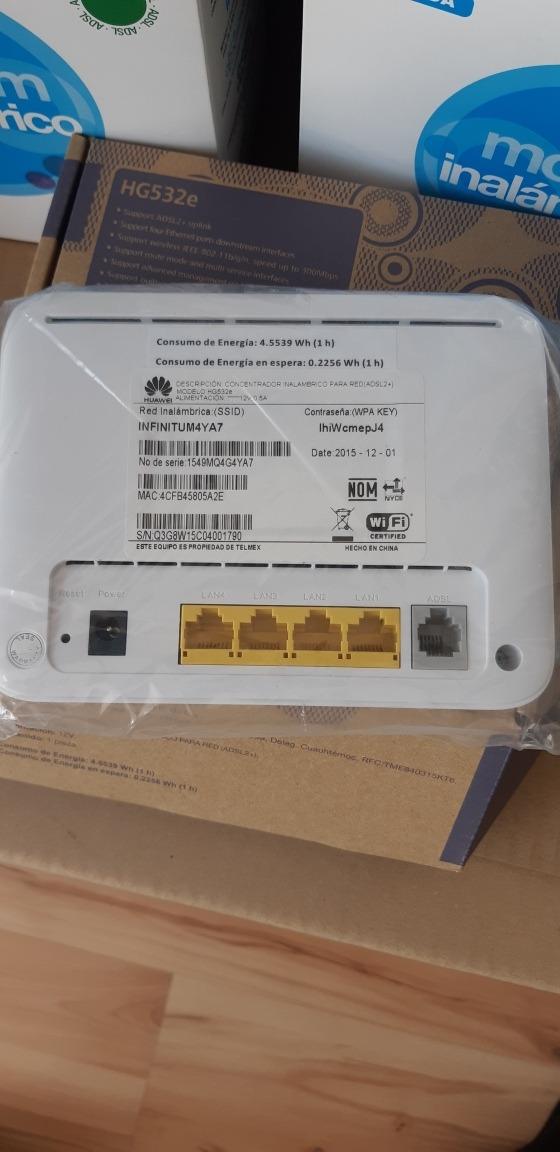 Modem Telmex Huawei Mod Hg532e
