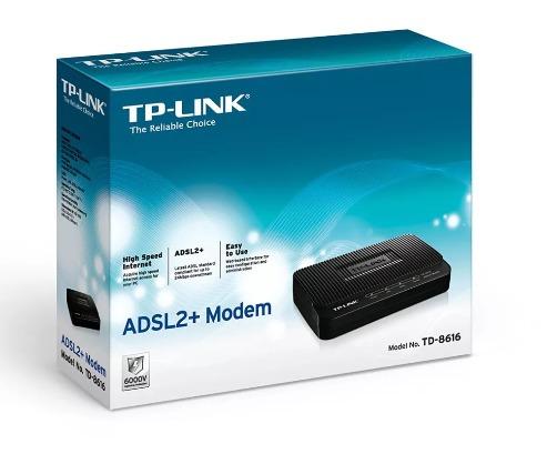 modem tp-link adsl2+modem td-8816 banda ancha internet rj-45
