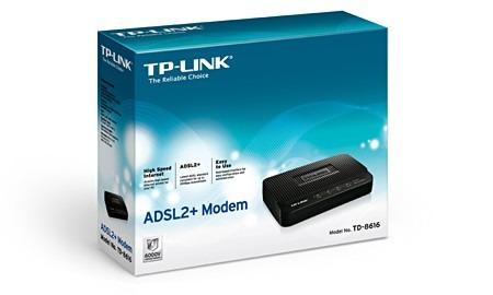 modem tp-link td-8616 adsl2+modem banda ancha internet rj-45