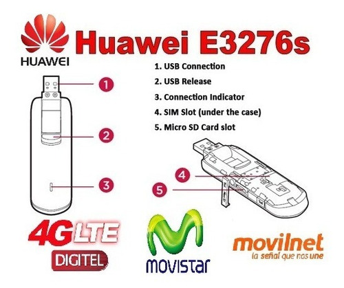 modem usb 4g lte multibam huawei bam digitel movistar movint