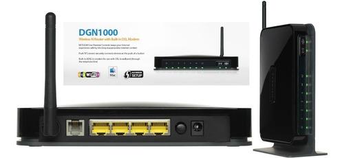 modem wifi router dgn1000 netgear adsl2+  aba garantía 1 año