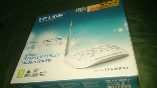 modem/roteador wireless n adsl2+ tp-link td-w8951nd 150mbps