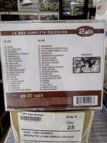 moderatto la mas completa coleccion 2 discos nuevos
