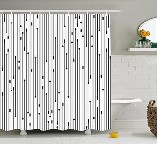 modern art home decor cortina de baño de ambesonne ,...