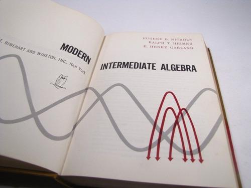 modern intermediate algebra, eugene d. nichols.