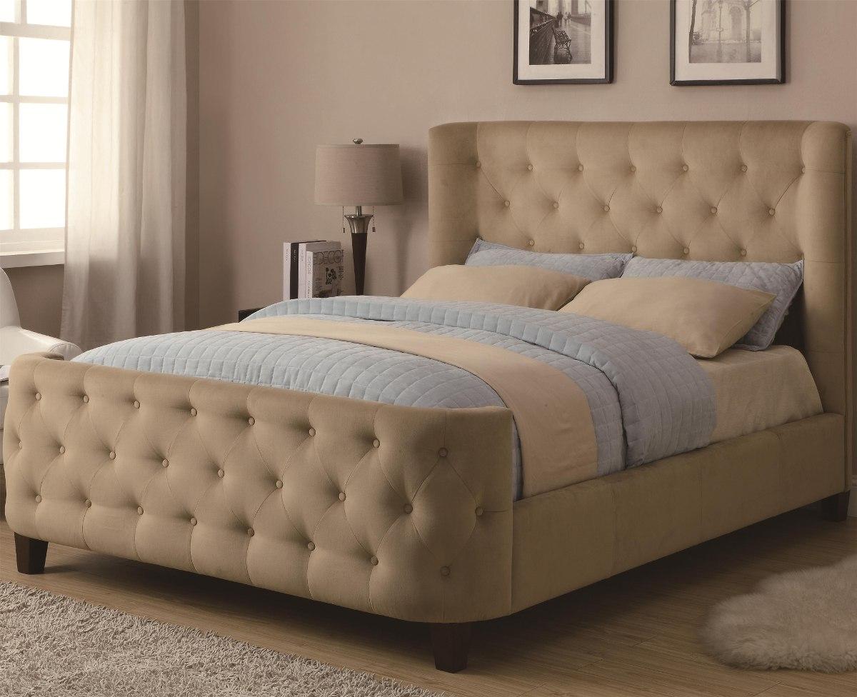 moderna cama con dise o capitoneado 75 en