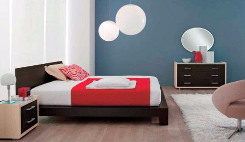 moderna cama queensize cabecera madera - madera viva