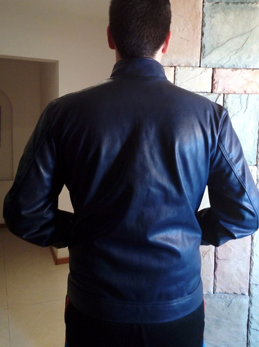 moderna chamarra de piel para caballero emporio italy ega