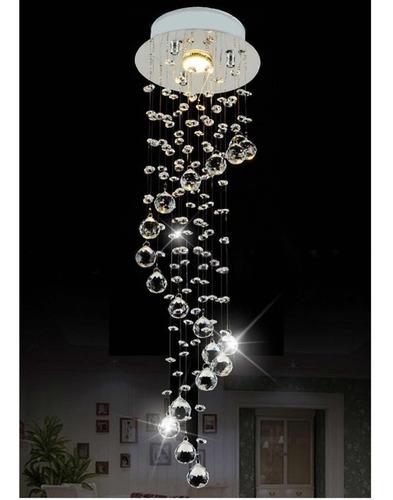 moderna lámpara de techo minimalista candelabro cristal