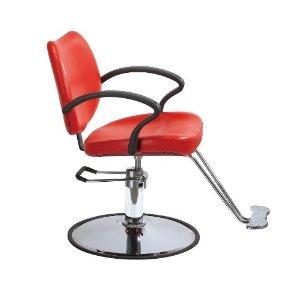 Moderna silla hidraulica para salon de belleza roja vbf - Sillas para salones ...