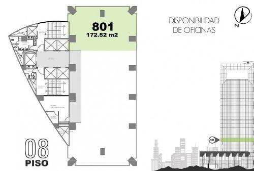moderna y céntrica oficina en edificio corporativo aaa. ubicada en parte alta de lomas de chapultepec. ubicada en piso 5 (501) de 241 m2 aprox., acondicionada, recepción, varios privados, aire acondi
