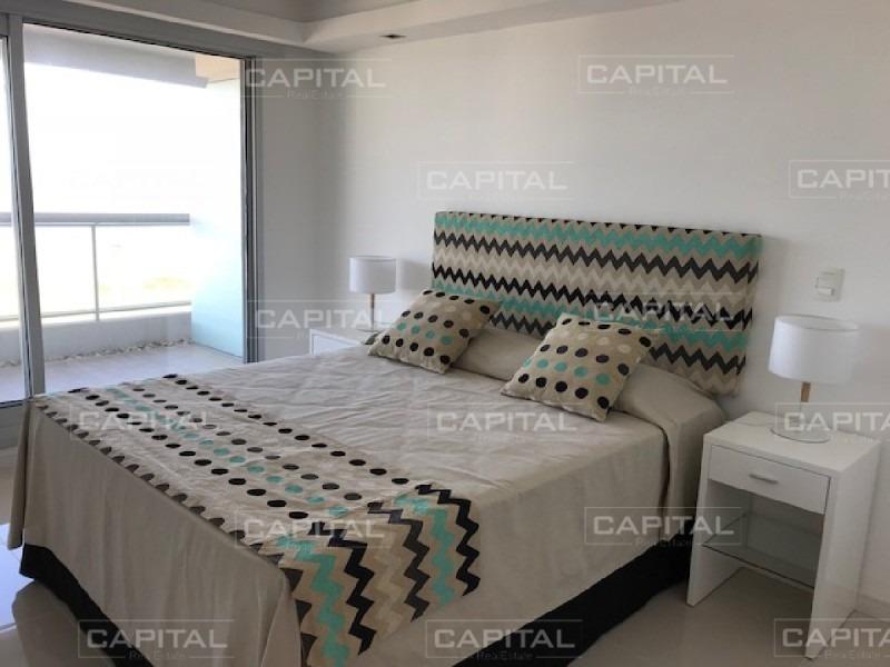 moderno apartamento de dos dormitorios con vista al mar - alquiler anual-ref:29152