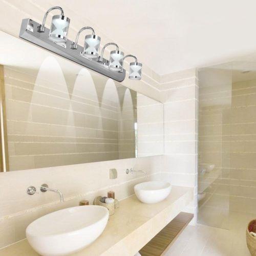 Moderno Cuarto De Baño Vanidad Luz Acrílico Led Espejo Luz ...