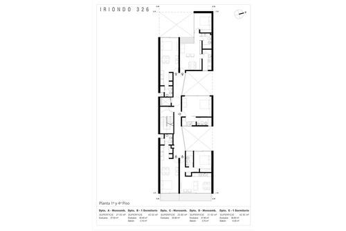 moderno departamento 1 dorm - amenities, cuotas