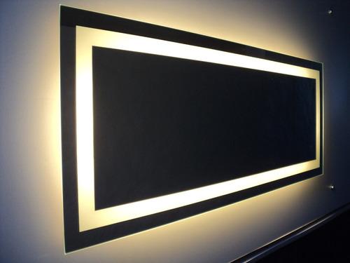 moderno espejo para baño con luz led, se hacen a medida.