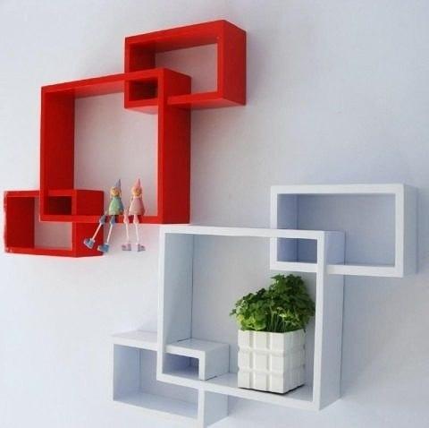 moderno estante flotante 3 cubos  ménsula invisible m lionel