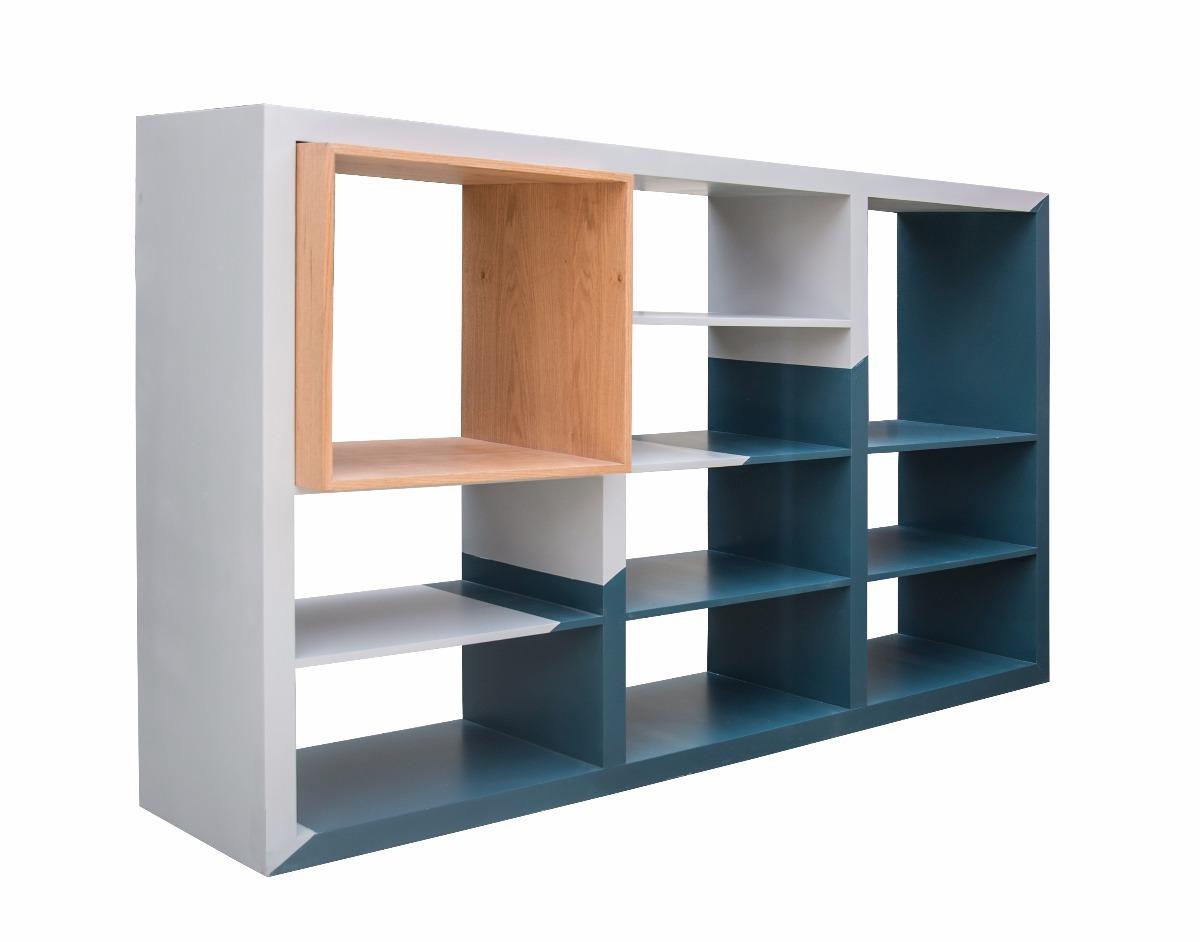 Moderno Librero De Madera, Encino, Colores A Personalizar. Cargando Zoom.