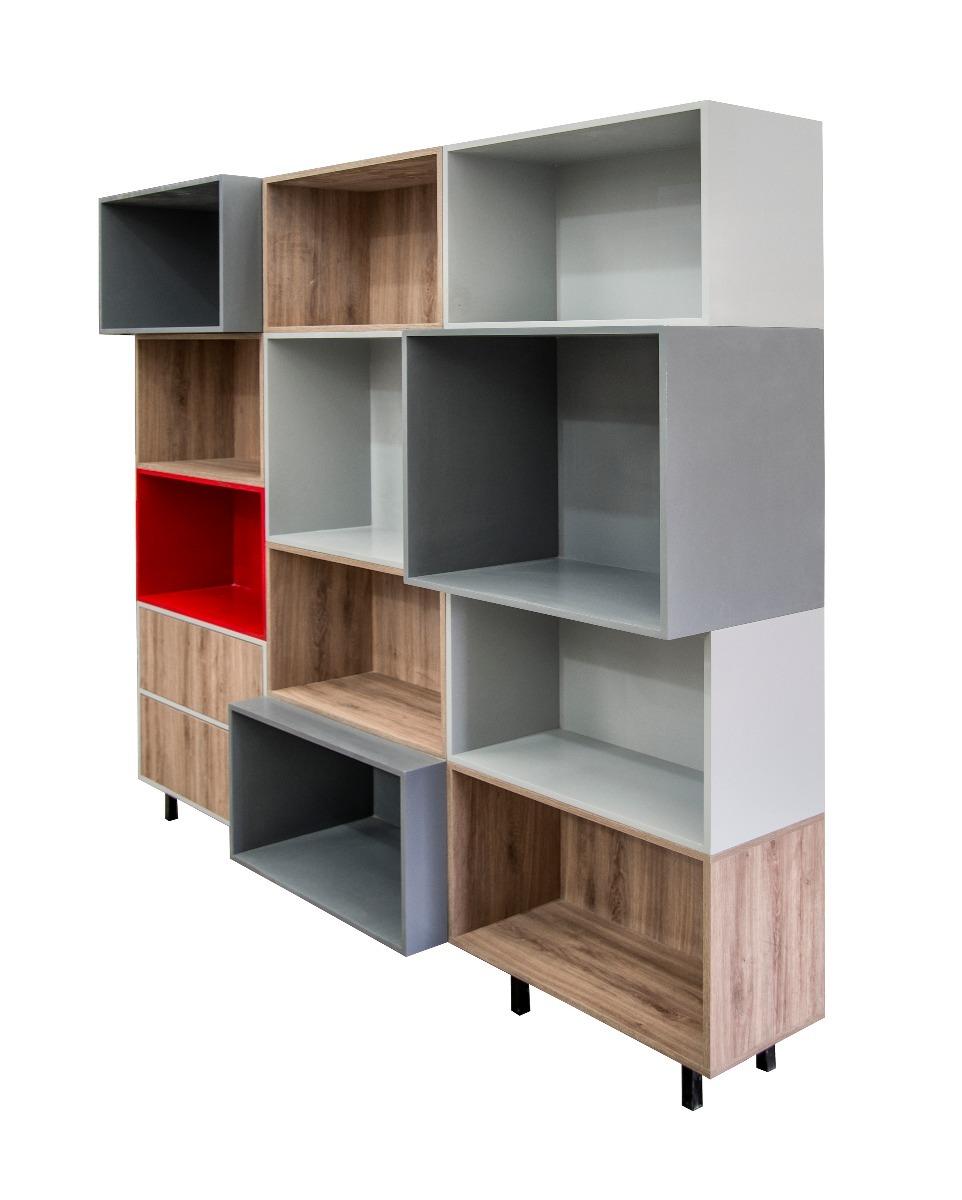 Moderno librero juguetero bufetera vitrina exhibidor - Libreros de madera modernos ...