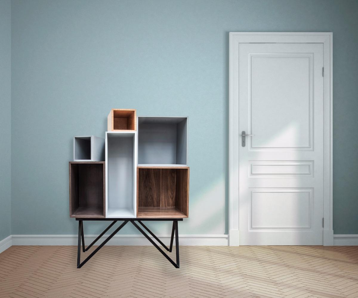 Moderno mueble de dise o cava bar librero personalizable for Diseno de muebles para herramientas
