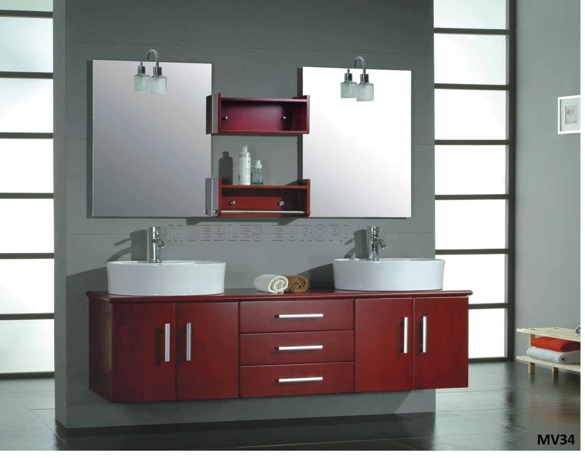 Moderno mueble para ba o c doble ovalin lavabo c monomando - Muebles de bano dobles ...
