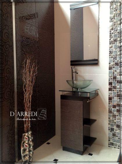 moderno mueble para bao con ovalin de cristal barato lizeth with muebles colgantes para bao