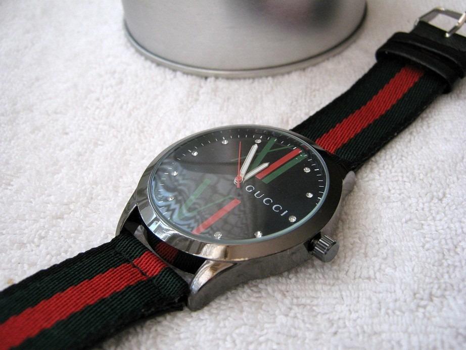 a2a72634a321e Moderno Reloj Gucci Grande Lona Envio Gratis -   460.00 en Mercado Libre
